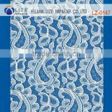100% Cotton embroidered high quality african guipure lace fabric for wedding dress lz-0147