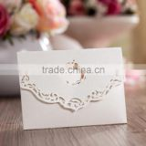 Factory Wholesale Cheap White Laser Cut Blank Wedding Invitations Pockets                                                                         Quality Choice