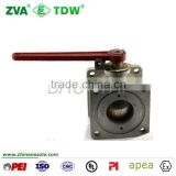valve ball Aluminum ball valve with Square Flange                                                                         Quality Choice