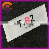 Wholesales black logo printed customize made cotton cheap printed clothing garment woven hang tags