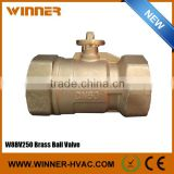 Big Flow Rate Zero Block Chilled/Hot Water Brass 2 Inch Ball Valve