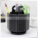Christmas season hot promotion leather remote control lock box with turnable manufacture