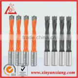 carbide end blade dowel drill bit with double flute