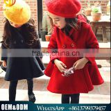 Whosale new arrival autumn & winter children coat thick warm girl thick woolen coat kids winter warm clothes