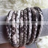 2016 New Style Natural Color Python Skin Leather Cord Snake Skin Leather Fashion Vintage Classic Unisex Design Python Cord