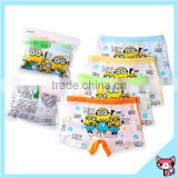 Hot Yellow Cartoon Image Child Boxer Underwear