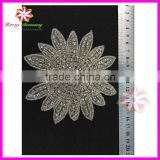 Factory direct wholesale bridal beaded crystal rhinestone appliques for wedding dresses