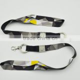 New Design Polyester Lanyard With Metal Card And Key Ring