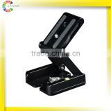 factory direct ZD-Y10 video camera flexible rotating mini outdoor pan tilt head for mounting on the tripod