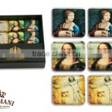 CARMANI Fridge magnet set with LEONARDO DA VINCI art