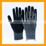 Industrial Black Sandy Nitrile Coated Cotton Spandex Gloves                                                                         Quality Choice