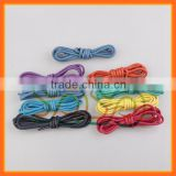 2015 YoYo Vintage Shoelaces for High Top Football Shoelace, Black White Red Green 100% Cotton Shoe Laces