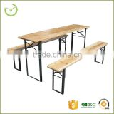 Easy storage or transport outdoor portable folding wooden beer table and bench set                                                                         Quality Choice