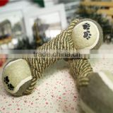 Double tennis cotton rope dog toys Large breed dog training pet toys Pet cotton rope dumbbell toy
