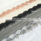 scalloped lace trimming,embroidery designs on tulle,scalloped sequins on mesh                                                                         Quality Choice