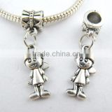 925 Sterling Silver Pretty Boy Dangle Charms Beads Fit European Bracelets