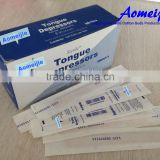 Sterile individual paper wrapped wooden tongue depressor saptula                                                                         Quality Choice