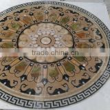 waterjet marble flower designs for floor tile with white green onyx