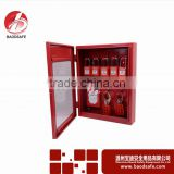 Wenzhou BAODI Combination Lockout Tagout Station Center Lock Filling Cabinet of 10 Locks Red