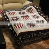 Heavy 100%cotton jacquard woven sofa throws blanket with custom pattern