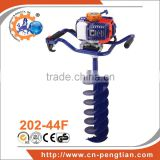 Chinese PENGTIAN 52CC Gas powered post hole digger for tree planting hand earth auger