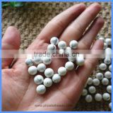 4mm 8mm Half Drilled Round Natural White Turquoise Loose Beads Gemstone For DIY Earrings Making HD-WTSR4mm
