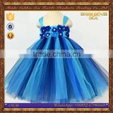 custom princess lace party flower wedding princess costumes for kids