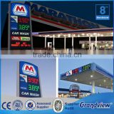 Public display waterproof illuminated gas station freestanding sign                                                                         Quality Choice