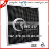 Activated carbon aluminum frame plank air filter