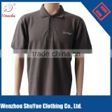 Free sample promotional brown golf polo shirt men