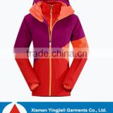 Newest Model Waterproof windproof Woman Outdoor 3 in 1 Jacket With Polar Fleece Inner Jacket