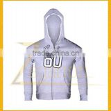 2014 Mens Plain Comfortable Light Gray Winter Zipper Hoodie Jacket Mens Baseball Jacket With Hood