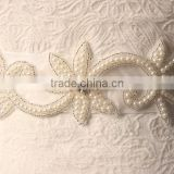 2015 New design Handmade pearl sash bride to be sash for elegant lady