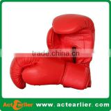 Synthetic leather OEM brand personalized red boxing gloves