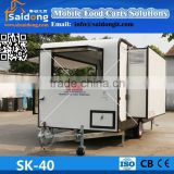 New arrival!!!different models multifunctional modile food carts mobile food caravans for fast food