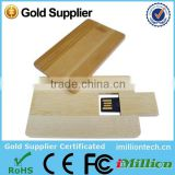 Best premium gift business wooden credit card USB 2.0 interface flash drive with custom logo printing
