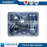 Swimming pool and spa equipment for spa pool and mini swimming pool
