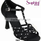 black satin high heel sexy beautiful ladies latin salsa ballroom dance shoes from Suphini