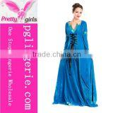 Blue Sexy Dress Long Evening Gown For Mature Woman
