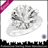 2014 wedding silver rings with big stone 925 sterling silver infinity one stone rings