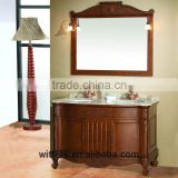 WTS1202 48 inch french style double sinks brown color Bathroom Vanity with option marble countertops