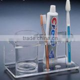 acrylic organizer for cup and toothbrush