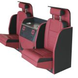 Electric car seat with foding bar seat