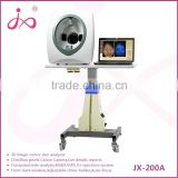 15 mega pixel RGB/PL/UV tri-spectrum 3D facial skin analyzer portable magic mirror skin analyzer system