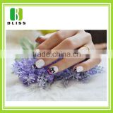 Popular White Lace Strip Style Nail Art Decals colorful waterproof self adhesive 3d nail sticker
