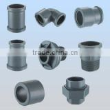 PVC pipe fitting end cap, plug,elbow