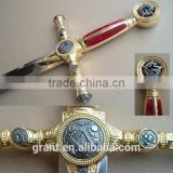 masonic knight's templar ceremonial sword antiqued BR