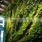decorative home decor fake green wall Custom factory uv/water proof artificial grass wall