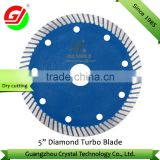 "Hot selling 5"" 125mm diamond turbo saw blade for stone/ diamond blade for granite/marble/diamond tool manufacturer"