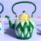 Hot sale bright 10-18cm enamel kettle tea pot in middle east arabia market UAE